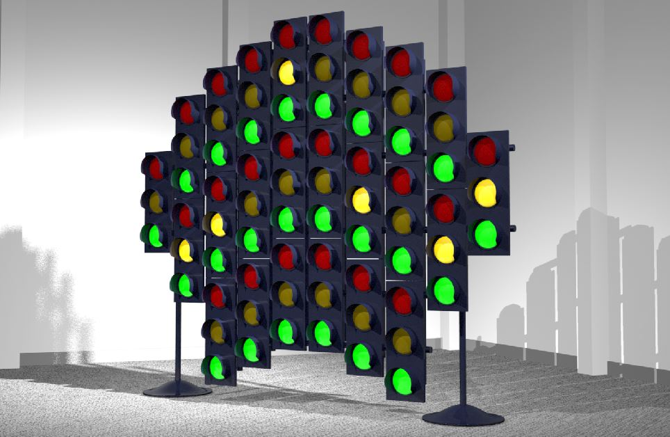 installation with traffic lights